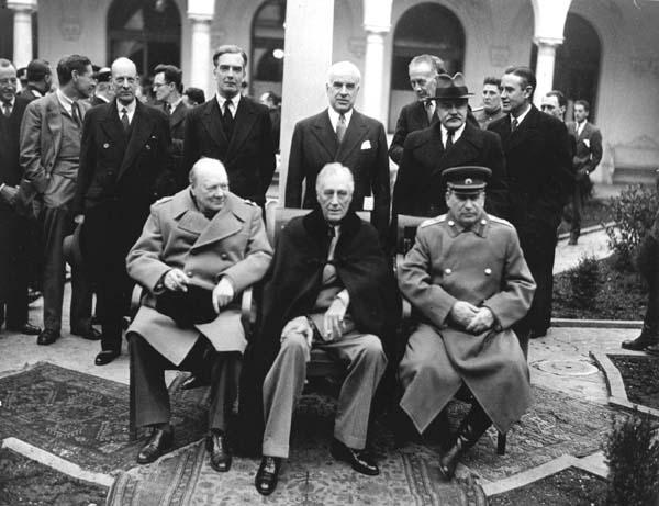 De Beroemde Foto Van De Vredesconferentie Van Jalta